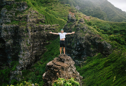 Crouching Lion Hike Oahu Hawaii Portrait Photography